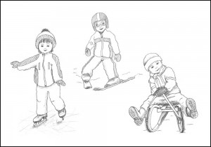 Illustration Wintersport