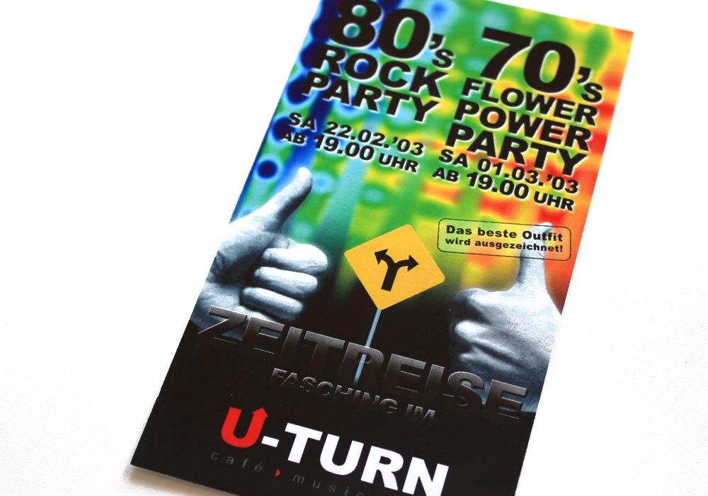 U-Turn: Flyer Events im Fasching